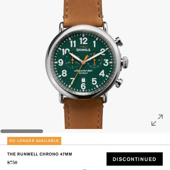 add73b172 Shinola Accessories | The Runwell Chrono 47mm Discontinued Watch ...
